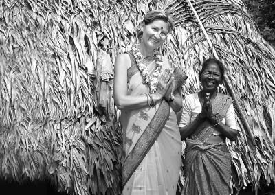 Privat in einem indischen Dorf