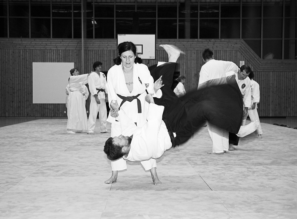 Roswitha S. privat beim Aikido-Training