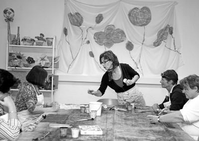 Barbara O., Seidenmalerin