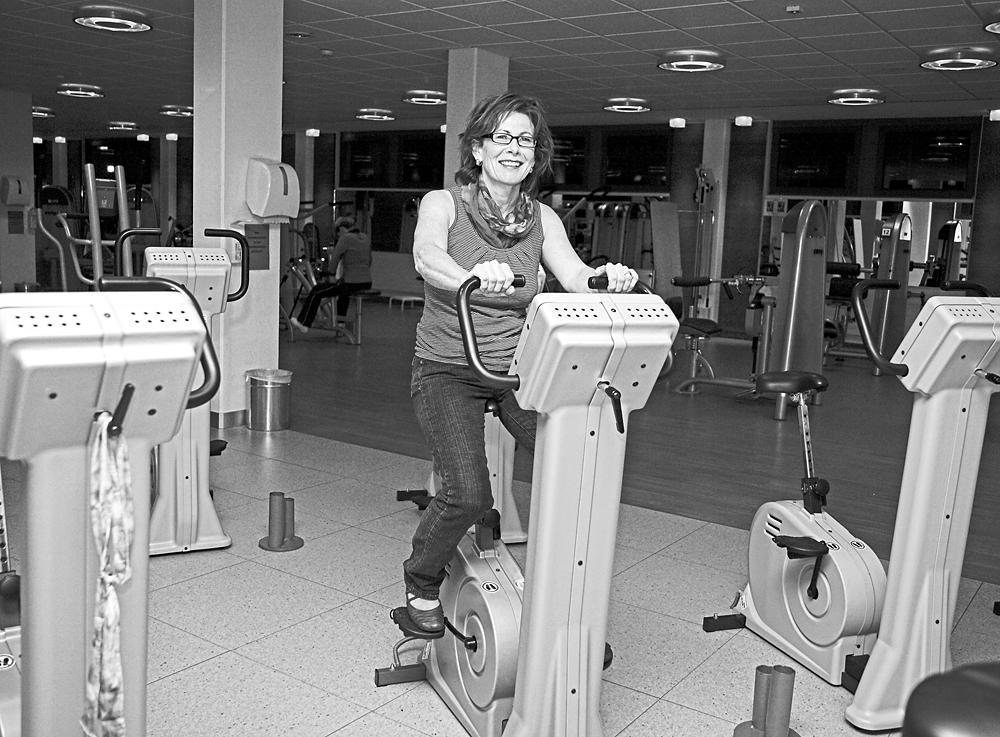 Barbara O. privat im Fitness-Studio