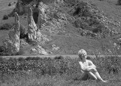 Privat am Teich bei den Steinernen Jungfrauen im Eselsburger Tal