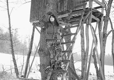 Privat am Hochsitz in einem Jagdrevier