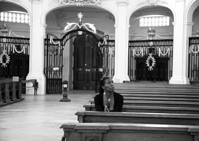 Privat beim Gebet in der Klosterkirche Neresheim