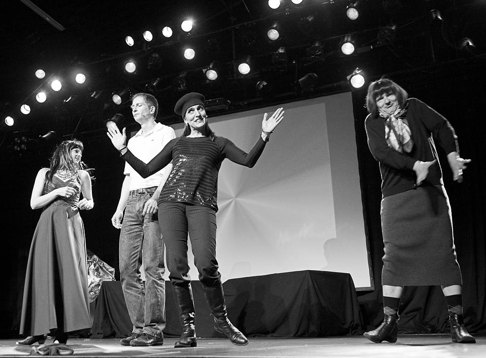 Christine W. privat beim Kabarett-Auftritt im Roxy in Ulm