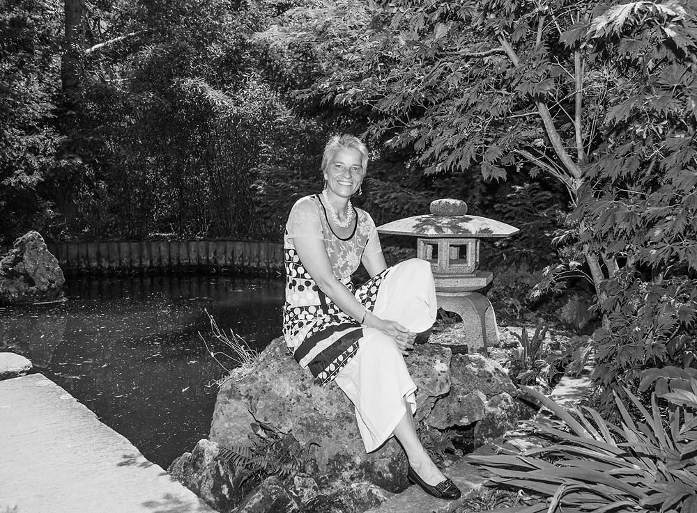 Ursula Keck privat im Blühenden Barock Ludwigsburg im Japangarten