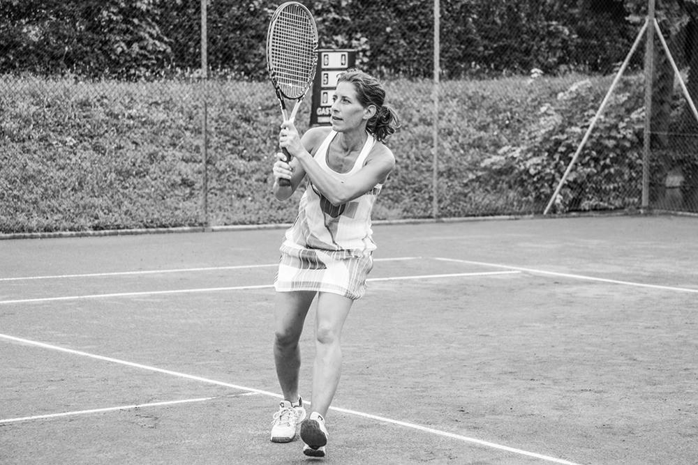 Heike B. spielt privat fast täglich Tennis