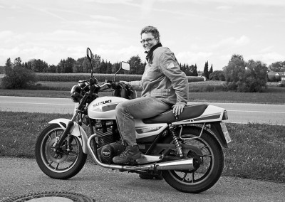 Privat auf dem Motorrad