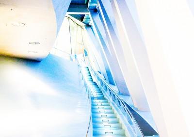 Treppe von unten