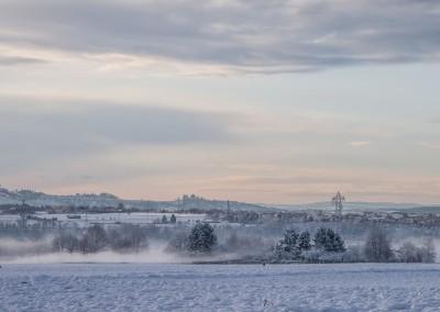 Blick von Pattonville nach Stuttgart
