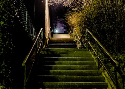 Treppe bei Nacht