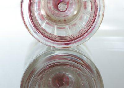 Boden einer Plastikflasche