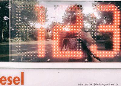Anzeigetafel einer Tankstelle