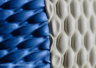 Badekappe blau/weiß