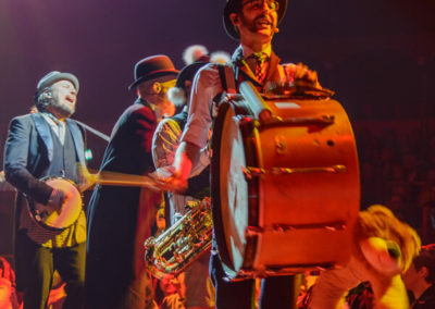 Die musikalische Clowngruppe Släpstick