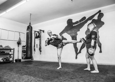 Privat beim Kickboxen