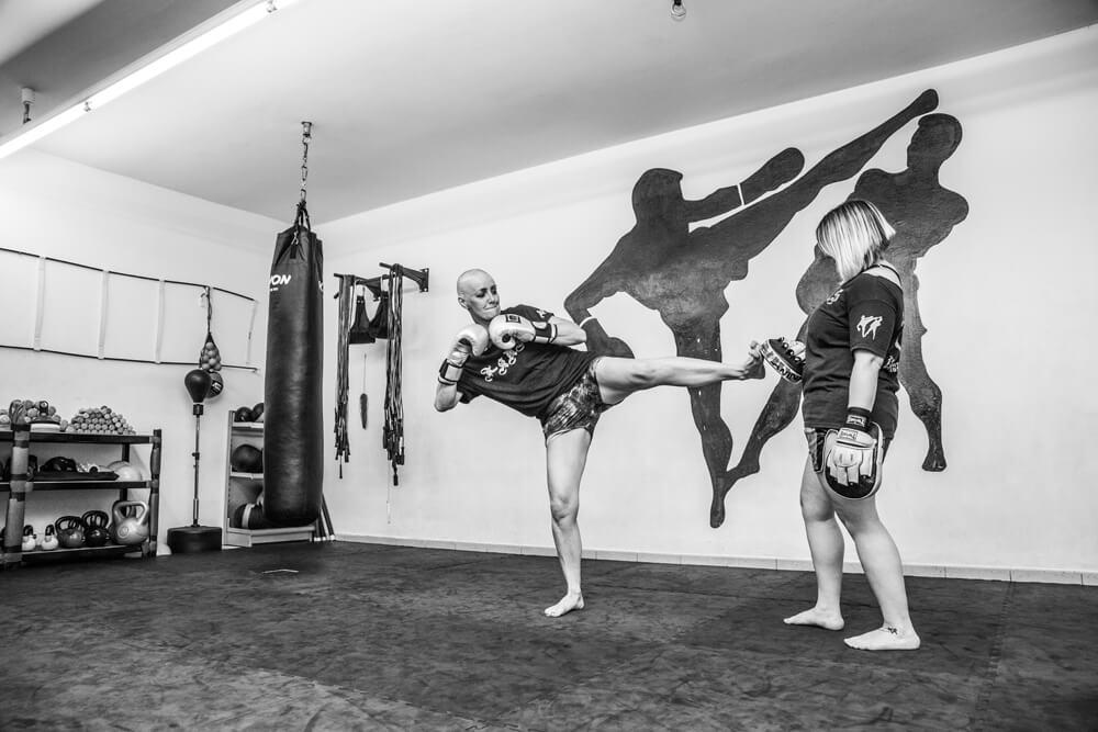 Ivonne K. privat beim Kickboxen